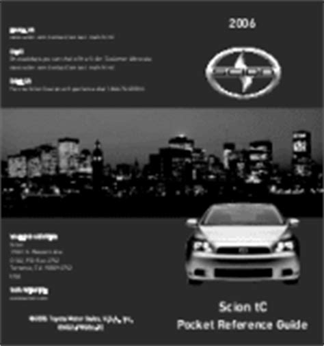 car owners manuals free downloads 2006 scion tc instrument cluster free pdf manual download for the 2006 scion tc owner s manual