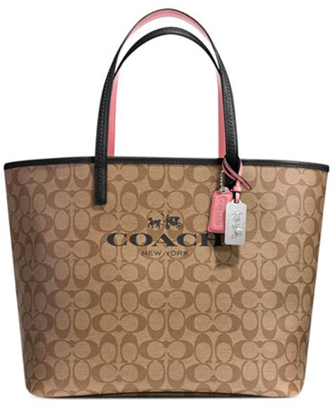 coach tote in signature c coated canvas coach handbags