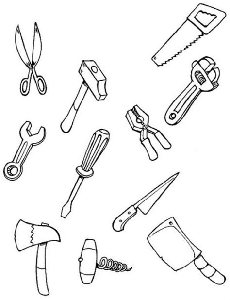 tools coloring pages tool coloring pages for carpenter coloring pages