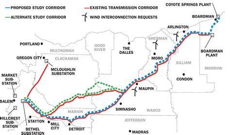 transmission lines map 2b in transmission lines planned in oregon daily