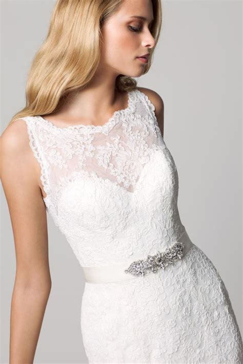 favorite illusion neckline wedding gowns 2013 onewed