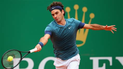 tennis players short haircut with line l atp di montecarlo riserva una wild card a roger federer