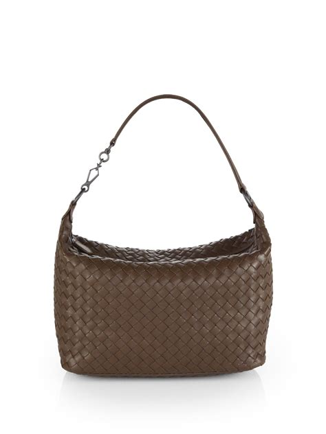 Bottega Veneta Woven Briefcase by Bottega Veneta Woven Leather Small Shoulder Bag In Brown