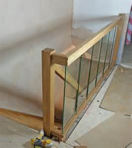 houston oak staircase glass balustrade design