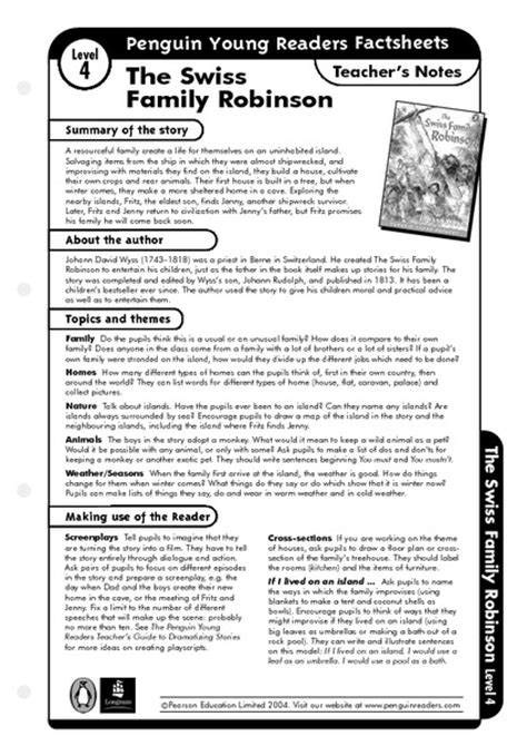 swiss family robinson book report swiss family robinson worksheets free worksheets library