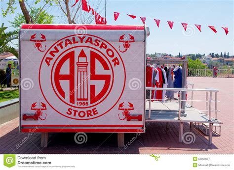 sports time fan shop antalyaspor football club fan store editorial photography