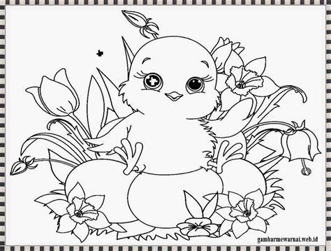 printable untuk anak gambar mewarnai anak ayam gambar mewarnai pinterest
