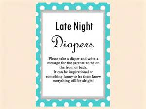 Free Printable Nautical Baby Shower Games - late night diapers diaper thoughts words for wee hours