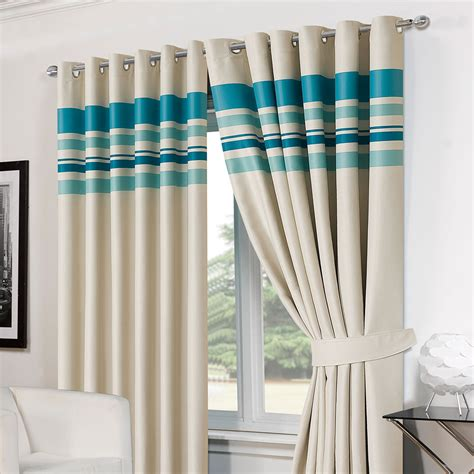 striped blackout curtains striped ring top lined pair eyelet ready made thermal