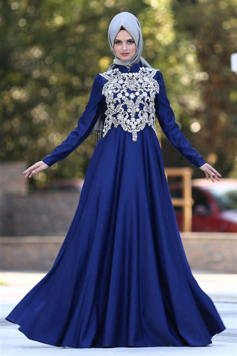 desain gaun mewah desain menarik dan mewah model gaun pesta muslimah elegan