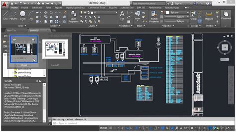 autocad layout use autocad electrical 2015 tutorial model and layout youtube