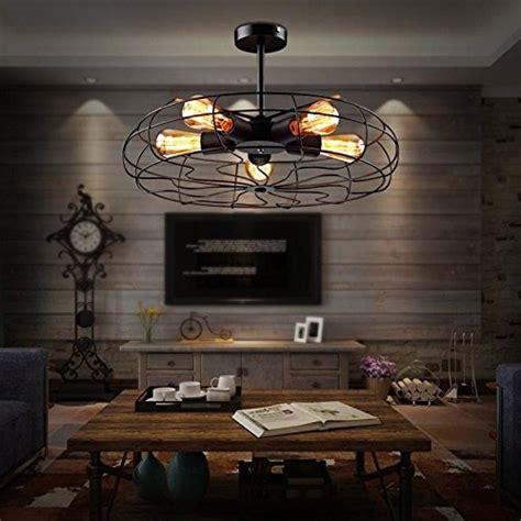flush mount industrial ceiling fan baycheer hl371436 industrial vintage style 110v semi flush