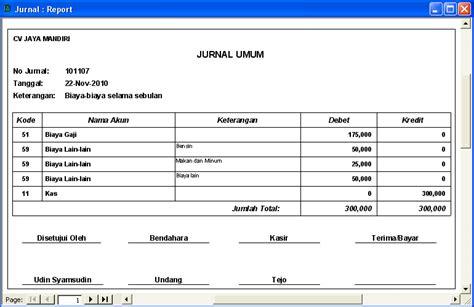 membuat aplikasi jurnal umum ilmu software laporan akuntansi dengan access