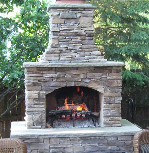 backyard fire place 48 quot contractor series outdoor fireplace kit outdoors