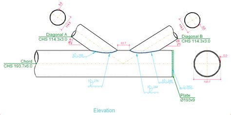 tubular section joints v flat trusses with tubular sections