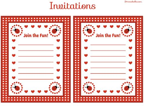 printable invitations with photo free ladybug party printables from printabelle catch my