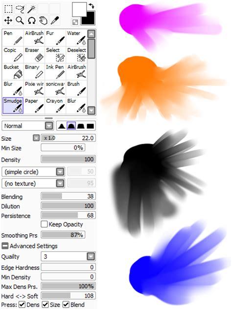 paint tool sai free yahoo blur smudge tool in paint sai yahoo answers