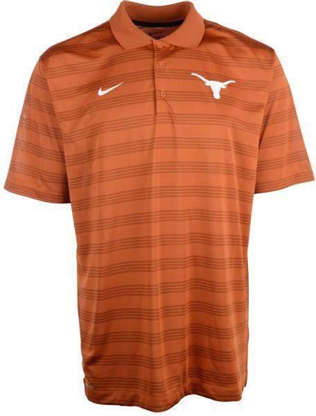 Nike Longhorns Mens Orange Elite Sleeve Polo 1 nike s longhorns dri fit preseason polo shirt in orange for lyst
