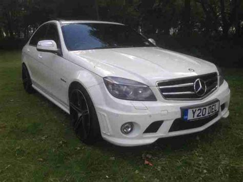 mercedes c class c63 amg preformance pack white 2008 car