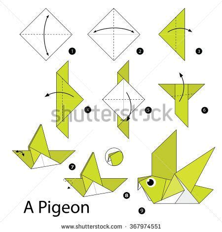 How To Make An Origami Dove Step By Step - best 25 origami dove ideas on origami bird