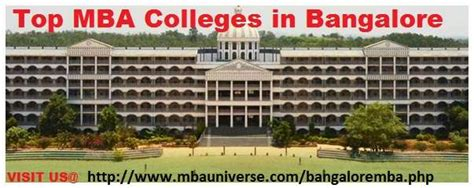 Mba College Timings In Bangalore by Top Mba Colleges In Bangalore Karnataka India Bengaluru
