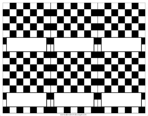 Diy Checkered Flag Escort Cards Racedayrelief A Bride Checkered Flag Printable