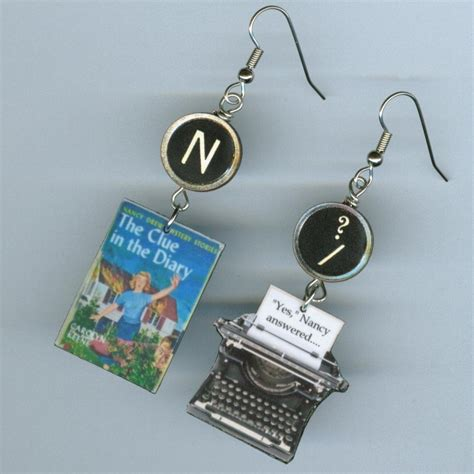 nancy drew book cover quote earrings book readers