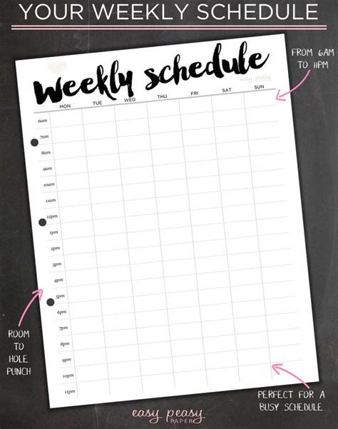 weekly schedule printable weekly timetable ideal week worksheet weekly organizer weekly