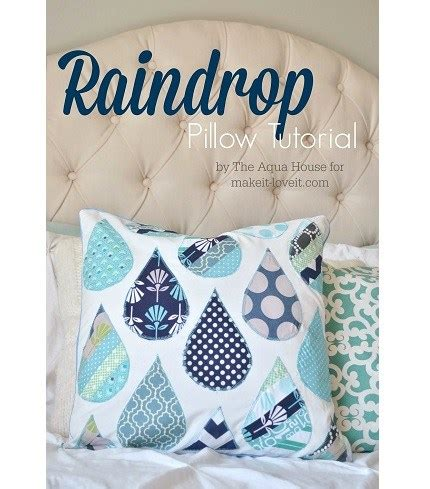 Throw Pillow Sewing Pattern by Tutorial Raindrop Applique Throw Pillow Sewing