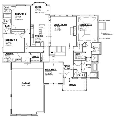 17 Best Images About Ranch House Plans On Pinterest Open House Layout Crossword
