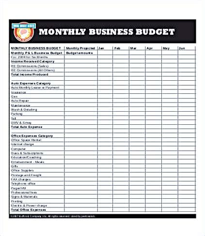 Business Budget Template For Excel And How To Make Yours How To Create A Business Template