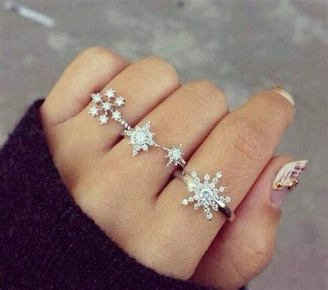 Gold Snowflakes Pretty Hands Pretty Feet Pinterest | diamond snowflake rings pictures photos and images for