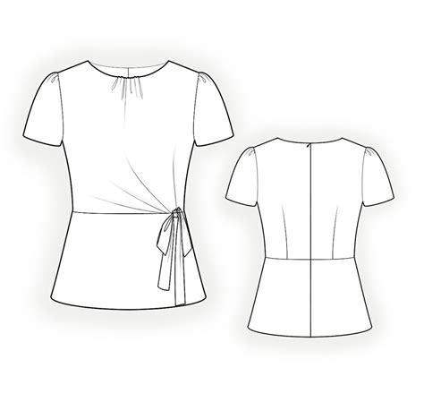 Drawing Blouse technical drawing blouse blouse styles