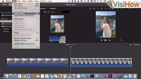 imovie tutorial import import footage to imovie visihow