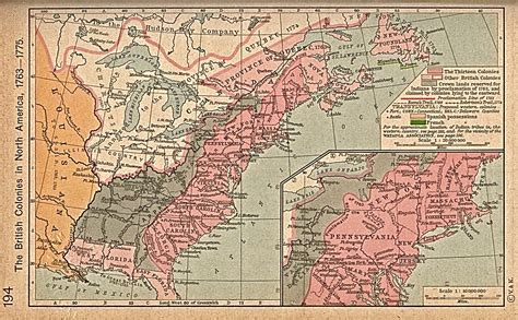 colonies 1763 1776 historical map united