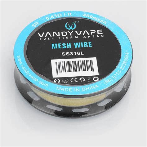 Mesh Wire By Vandy Vape Authentic authentic vandy vape ss316l mesh wire 0 43 ohm diy wire