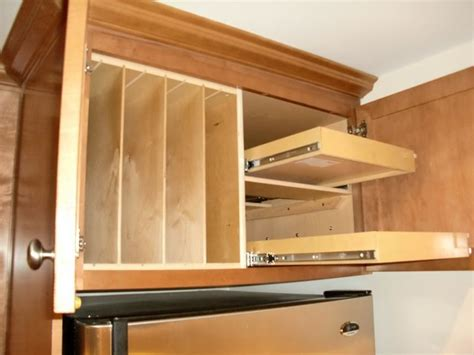 above refrigerator storage above fridge oven solutions kitchen drawer organizers