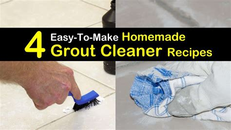 4 Easy To Make Homemade Grout Cleaner