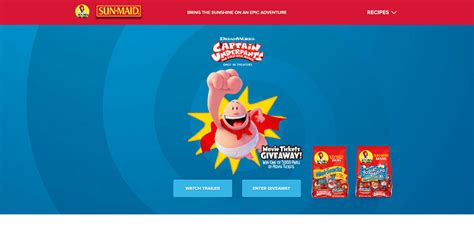 Captain Underpants Sweepstakes - sweepstakeslovers daily sun maid amazon more