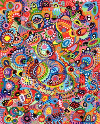 artists pattern of dots multi color abstract patterns thaneeya mcardle new work