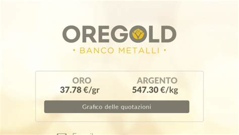 quotazione oro banco metalli oregold 174 banco metalli professionisti comparto oro