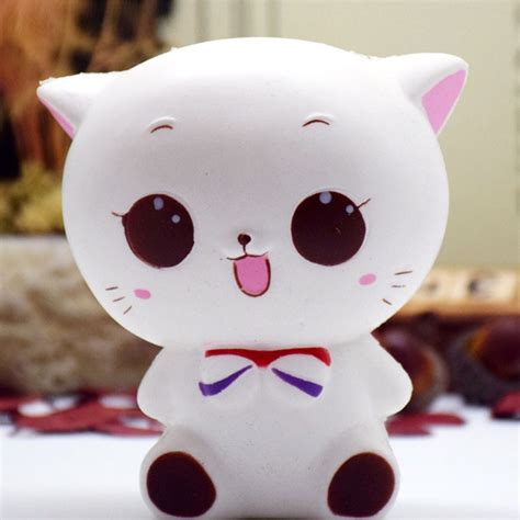 Rise Cat And Pinquin Squishy us kawaii squishies soft bread squishy cat rising stress reliever