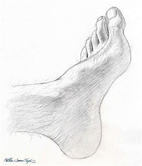 my foot graphite pencil study matthew james taylor