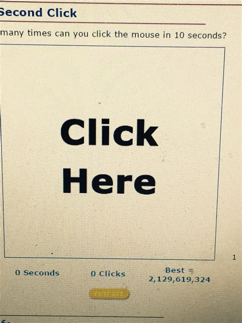 how many times can you click in 10 seconds