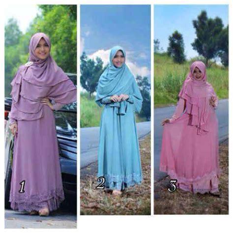 Gamis Abaya Hitam Syarifah Ori Ehc busana muslim koleksi terbaru