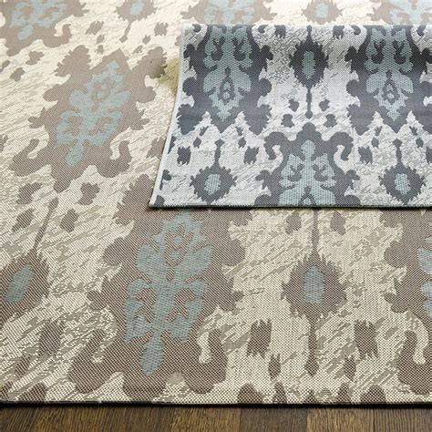 ikat indoor outdoor rug belgrado ikat indoor outdoor rug ballard designs