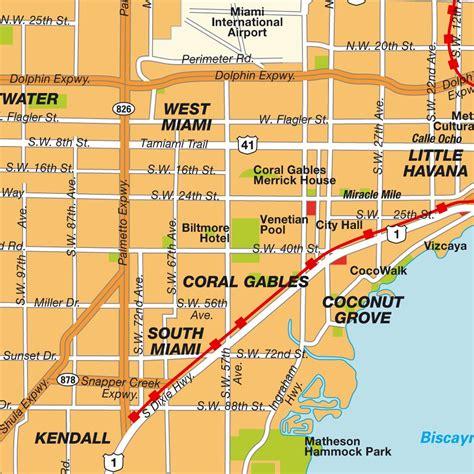 map of greater miami neighborhoods florida usa maps and