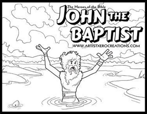 free bible coloring pages of john the baptist 18 best images about john the baptist on pinterest