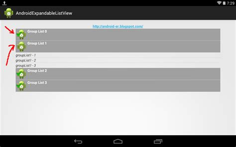 android expandablelistview android er create groupindicator for expandablelistview exle