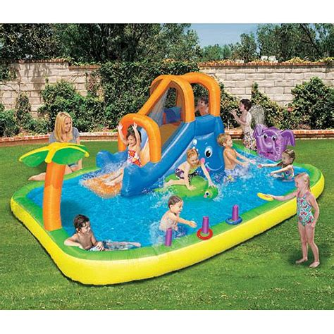 best backyard pools for kids banzai animal friends splash water slide